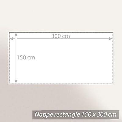 Mantel rectangular (150 x 300 cm jacquard 100% algodón + ...