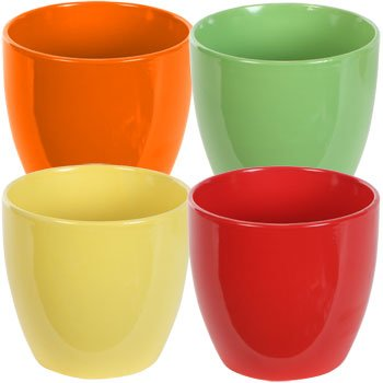 the christmas boutique tapered colorful ceramic stoneware planter pot bowl 1 5 14quot