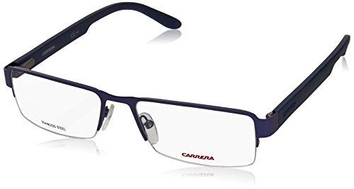 Carrera 6657 Eyeglass Frames CA6657-0TRO-5617 - Matte Blue Frame, Lens Diameter 56mm, Distance