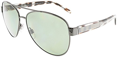 Burberry Women's 0BE3084 Gunmetal/Gray Gradient - Warranty Burberry