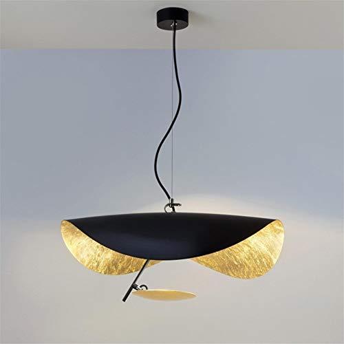 Pendant Lights Nordic Simple Chandelier Restaurant, Living Room, Creative Lotus Leaf, Cafe, Cowboy Hat Lighting Lamp LED 15W (Size : 60cm)