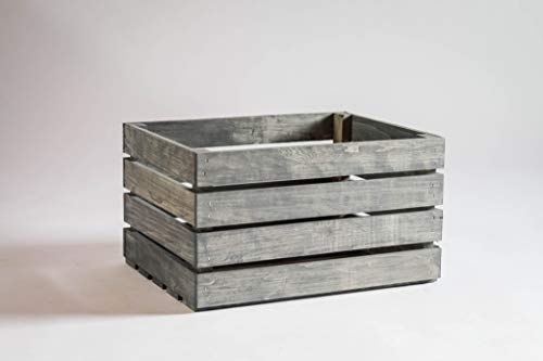 Darla'Studio 66 Antique Gray Stained Rustic Wood Crate (Wooden Crate Finished)