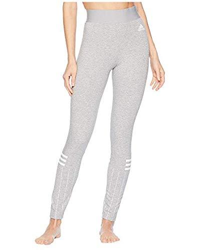 [adidas(アディダス)] レディースウェアジャケット等 Sport ID Printed Tights [並行輸入品] US SM(S) 29 Medium Grey Heather/White B07N8BMHTC