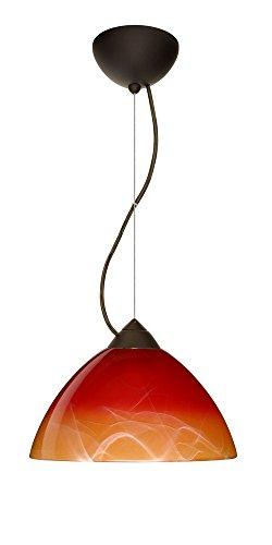 Besa Lighting 1KX-4201SL-BR Tessa - One Light Pendant, Choose Finish: BR: Bronze, Choose Mounting Option: 1KX: Dome Canopy Cable Fixture, Choose Lamping Option: 75W Incandescent-A19 Medium-120v
