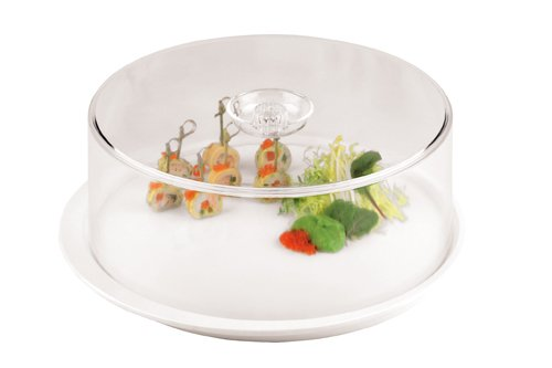Paderno World Cuisine 13-Inch Dome Cover for Melamine Round Platter