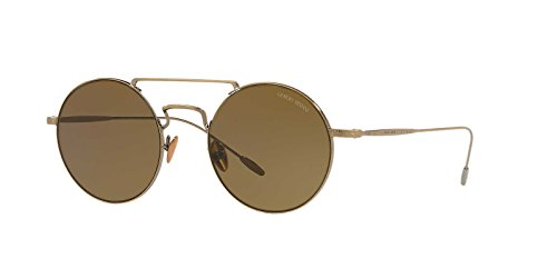 Giorgio Armani Mens Sunglasses Gold/Brown Steel - Non-Polarized - 48mm Armani Gold Sunglasses