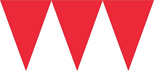 (Paper Pennant Banner | Apple Red | Party Decor)