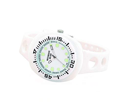 Watchmaker Milano Sub - Reloj de Pulsera para Hombre, Sumergible, Vintage, de Cuarzo, años 70 Bianco: Amazon.es: Relojes