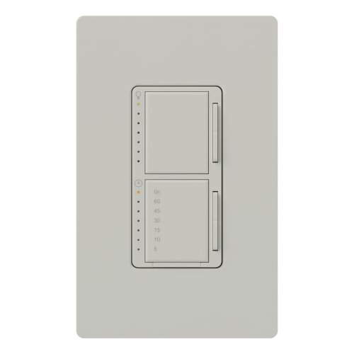 - Lutron MA-L3T251-PD Maestro 300 Watt Single Pole Dimmer And Timer Switch, Palladium