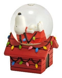 Peanuts Snoopy on Doghouse Mini Christmas Snowglobe for sale  Delivered anywhere in USA