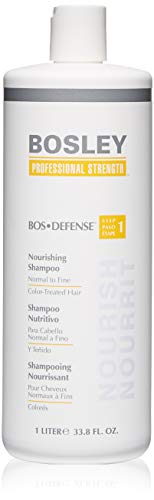 Bosley Professional Strength Bosdefense Shampoo For Color-Treated Hair, 33.8 oz (The Best Shampoo For Color Treated Hair)