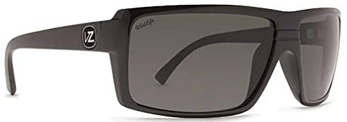 VonZipper Unisex Snark Polarized Black Gloss/Vintage Grey Wildlife Polarized Lens Sunglasses (Von Vintage Sunglasses Zipper)