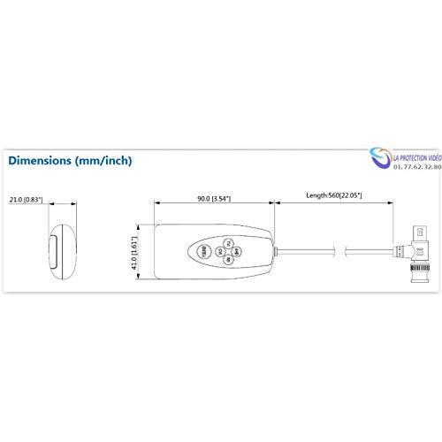 Dahua PFM820 Mando a Distancia para Cambiar HDCVI//AHD//HDTVI//anal/ógico