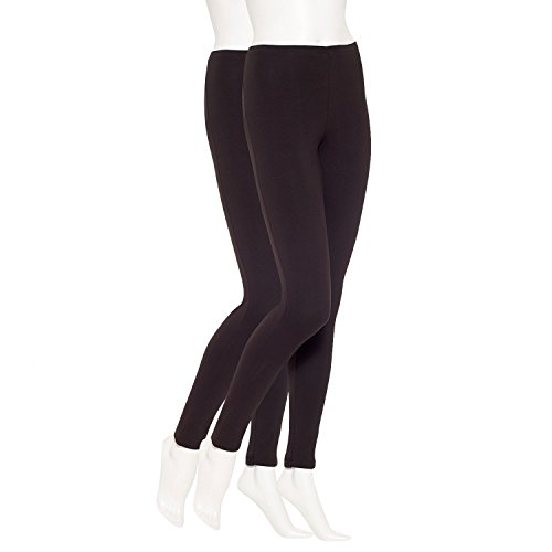 June & Daisy Womens 2-Pair Cotton Capri Leggings at Amazon Women's ...