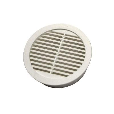 Master Flow 4 in. Resin Circular Mini Wall Louver in White (4-Pack)