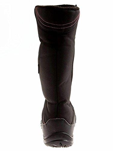 Horka Thermo botas con forro polar y suela de goma impermeable al aire libre negro