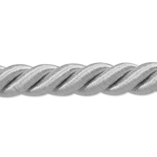 Cord Twisted Lip Trim 3/8 (Expo International Savannah Twisted Cord Trim, 20 yd/3/8, Light Gray)