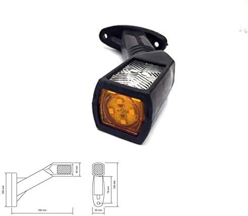 Lot de feux de gabarit c/ôt/é gauche et c/ôt/é droit 12//24V tricolore /à LED rouge et blanc feu de position lateral pour remorque camion camionette fourgon chassis etc.