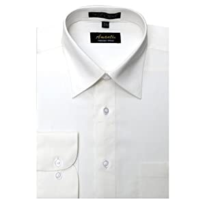 Amanti Off White Colored Men's Dress Shirt Classic Style Long Sleeve 17.5-34/35