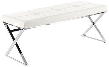 Wink Design Hartford Banc Simili Cuir Blanc Amazonfr