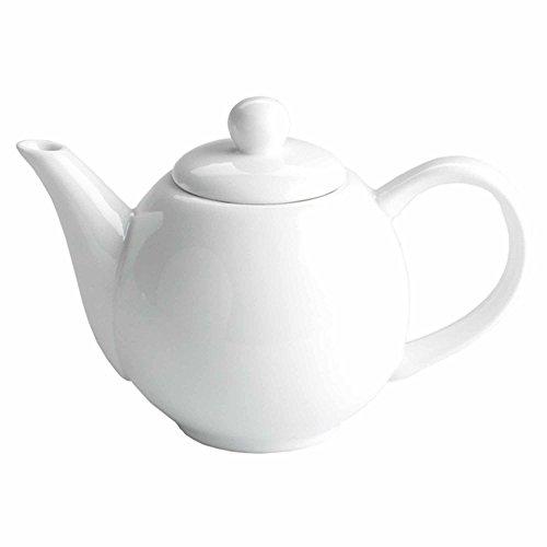 Claro de Luna ceramica tetera blanco 13oz/370ml–pequena tetera de porcelana