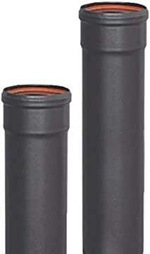 Tubería esmaltada m-h 850°c- 80 mm - 1 metro para estufas y chimeneas de pellets ...