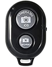 Camera Shutter Remote Control with Bluetooth Wireless Technology - Photos and Videos Selfie Button Clicker - Works with Most Smartphones and Tablets (iOS and Android)