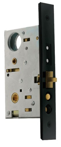 Baldwin 6320.102.R Right Handed Handleset and Knob Entrance Mortise Lock with 2-1/2-Inch Backset, Oil Rubbed - Baldwin Entrance