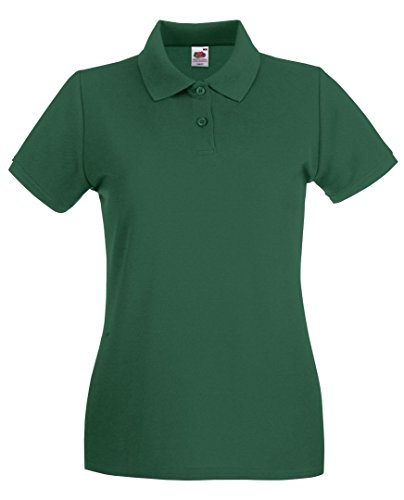 Fruit of the Loom - Polo - para mujer verde oscuro