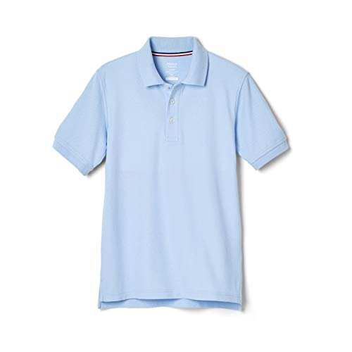 French Toast Little Boys' Toddler Short Sleeve Pique Polo, Light Blue, 3T