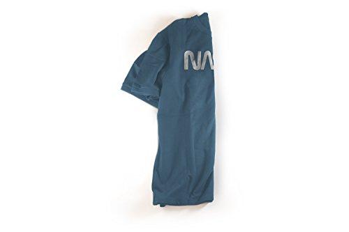 a0ce58072 ... Revel Shore Men's Retro Vintage NASA Worm Logo Premium Soft T-Shirt  (Large, ...