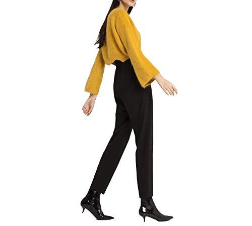 Fuweiencore Femmes À Pull Jaune T Manches Pulls shirt Longues Élégant rwqrCTO