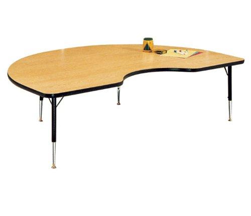 Virco 48KID72LO0840101 4000 Series Short Activity Table, Adjustable Legs, 72