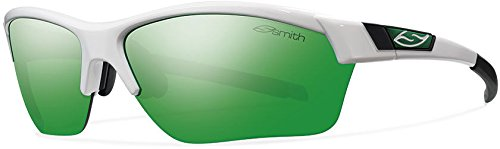 Cheap Smith Optics Approach Max (NEW) Sunglasses, White, Green Mirror/Ignitor/Clear