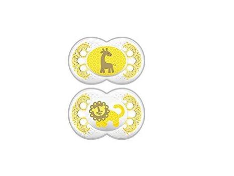 MAM - Lote de 2 chupetes (para bebés de 18+ meses), colores surtidos