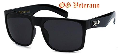 be1ad12197 Classic Old School Super Dark Lens Locs Sunglasses-8loc91081-bk