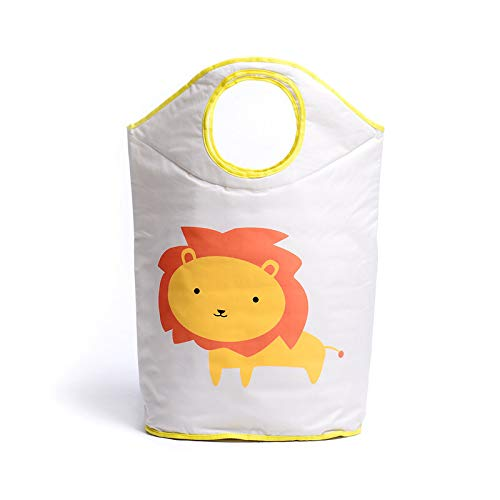 DeemoShop Waterproof Folding Canvas Laundry Basket Cute Animal Washing Dirty Clothes Big Basket Organizer Toy Storage Box Hot by DeemoShop