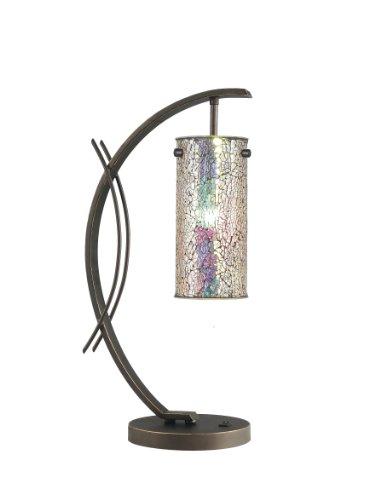 - Woodbridge Lighting 13482MEB-M10IRI Eclipse 1-Light Table Lamp, 7-1/2-Inch by 21-3/4-Inch, Metallic Bronze