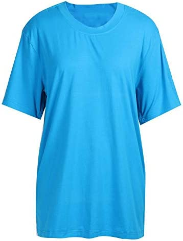 在宅介護服、術後看護服を脱ぐのに便利な成人失禁看護Tシャツ ルーズスタイル スーパーソフトストレッチ(L-青)
