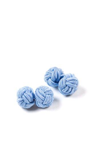 Light Blue Knot Cufflink - 2