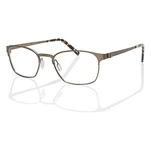 Eco Unisex Singapore Matte Gold 50mm Eyeglasses, Size 50-18-140 B35