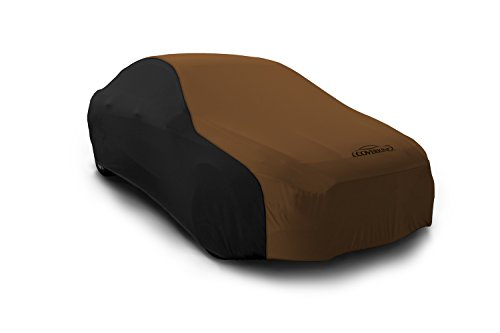 Coverking Custom Fit Car Cover for Select Austin Healey Sprite Models - Satin Stretch (Tan with Black Sides)