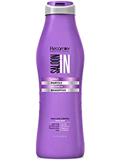 SalonIn Recamier Professional Shampoo Fortex Women Hair Loss Prevention | Champu Anticaida Cabello Profesional 10.1 Ounces