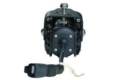 12-32V DC Larson Electronics 0627OWWVSKS High Intensity LED Light 10 Watt LED 40 Degree Medium Flood Black Housing