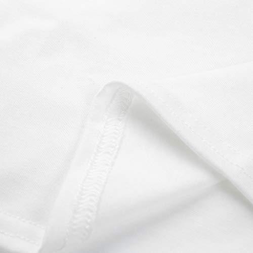 Qingsiy Camisetas Mujer Manga Corta Camisetas Mujer Verano Blusa ...