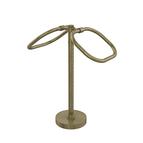 Allied Brass TB-20G-ABR Two Ring Oval Guest Towel Holder Antique Brass (Allied Oval Towel Ring)