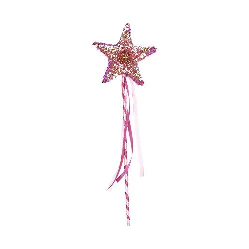 SHU-SHI Wand Child Princess Star Toy Magic for Boys and Girls Handmade Wooden