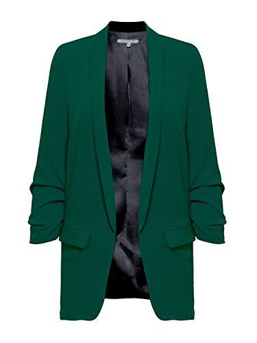 Lunga Grün Business Autunno Manica Di Elegante Moda Monocromo Giovane Outwear Maglia Donna A Mode Blazer Lungo Marca Bavero Giacca U5YXw
