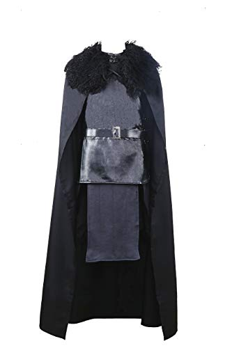 Game of Thrones Jon Snow The Night Watch Costume Halloween Party Cosplay (Large) -