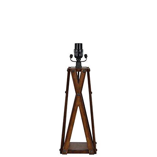 Allen + roth 17.5-in Faux Wood Metal Lamp Base